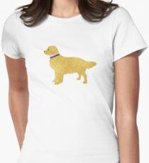 Preppy Golden Retriever Womens Fitted T-Shirt