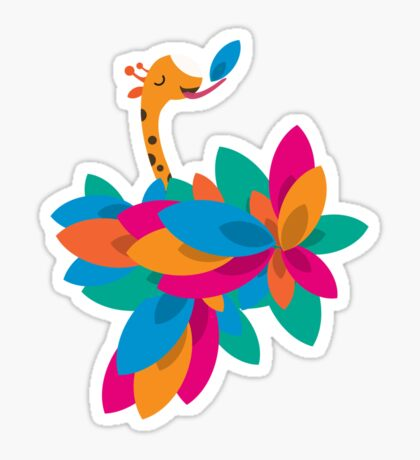 Orange and Trees Sticker