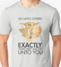 Twitch Plays Pokemon: Do Unto Others - Light with Dark Text Unisex T-Shirt