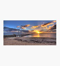 Sun Rays Over Frankston Pier Photographic Print