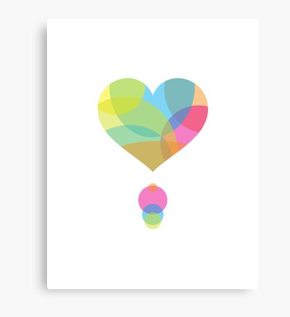 Colors of a Heart Canvas Print