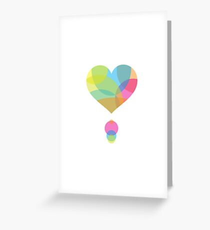 Colors of a Heart Greeting Card