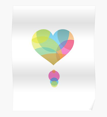 Colors of a Heart Poster