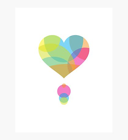 Colors of a Heart Photographic Print