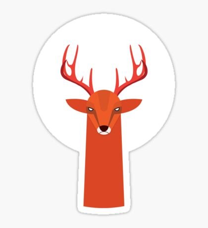 Deer and Moon Sticker