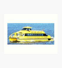 New York - Water Taxi Art Print
