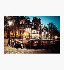 Amsterdam at night Photographic Print