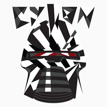 Dazzle Camo Cylon - Battlestar Galactica by purvart
