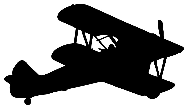 Biplane Silhouette By Lucid Reality