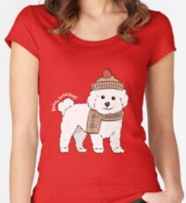 Bichon Freezing! Women's Fitted Scoop T-Shirt