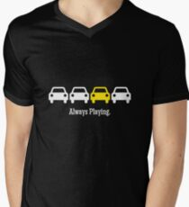 Cabin Pressure - Always Playing Yellow Car Men's V-Neck T-Shirt