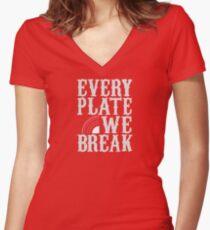 everyplatewebreak - logo Women's Fitted V-Neck T-Shirt