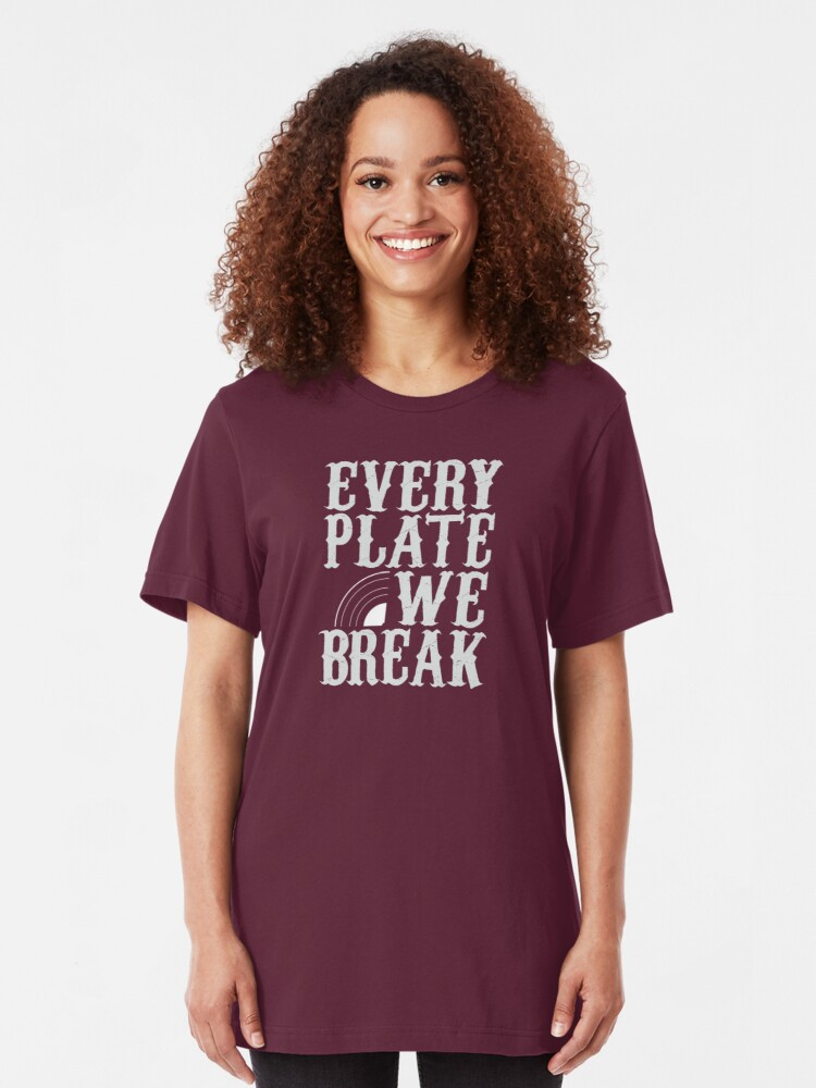 Alternate view of everyplatewebreak - logo Slim Fit T-Shirt