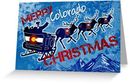 Merry Colorado Christmas grunge by artisticattitud