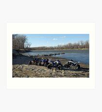 atvs by river Art Print