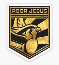 """ABBA JESUS!"" Twitch Plays Pokemon Merch! Sticker"