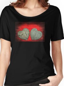 Abstract Stone Hearts T-Shirt Women's Relaxed Fit T-Shirt