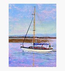 Boat Returning to Moor, Burnham Estuary. Photographic Print