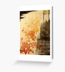 Abstract watercolor Fire Greeting Card