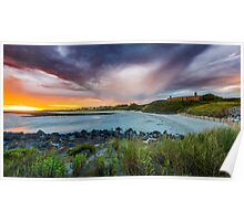 Sunset at Pea Soup Poster