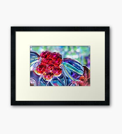 Abstract Glass Reflections Framed Print