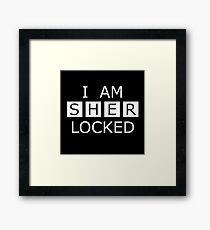 I Am Sherlocked Framed Print