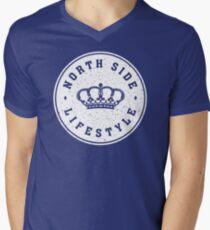 NSL White Royal Crown Mens V-Neck T-Shirt