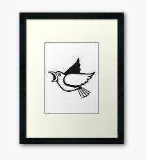 Bird flying animal cool nature comic Framed Print