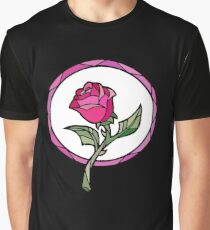 Stained Glass Rose | Beauty and the Beast Graphic T-Shirt