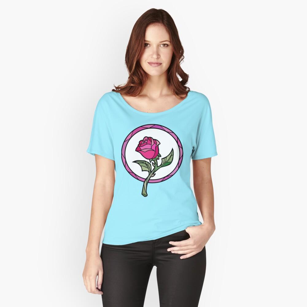 Vitral Rose | La bella y la Bestia Camiseta ancha