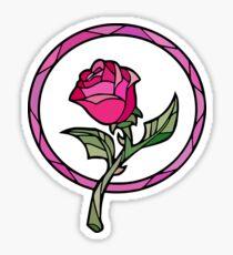 Pegatina Vitral Rose | La bella y la Bestia