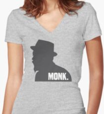 Thelonious MONK. Women's Fitted V-Neck T-Shirt