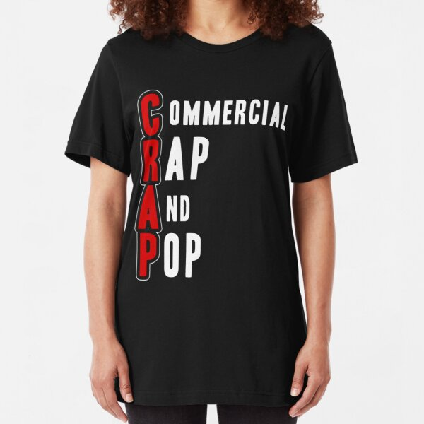 CRAP - White Slim Fit T-Shirt