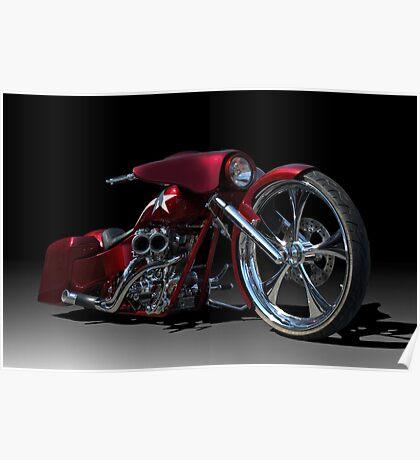 Custom Bagger Motorcycle Poster