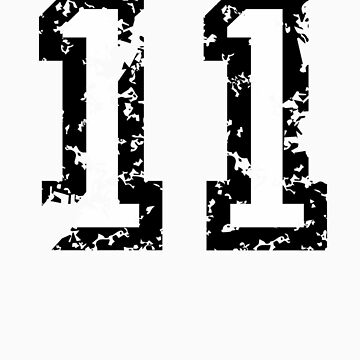 Number Eleven - No. 11 (two-color) white by theshirtshops