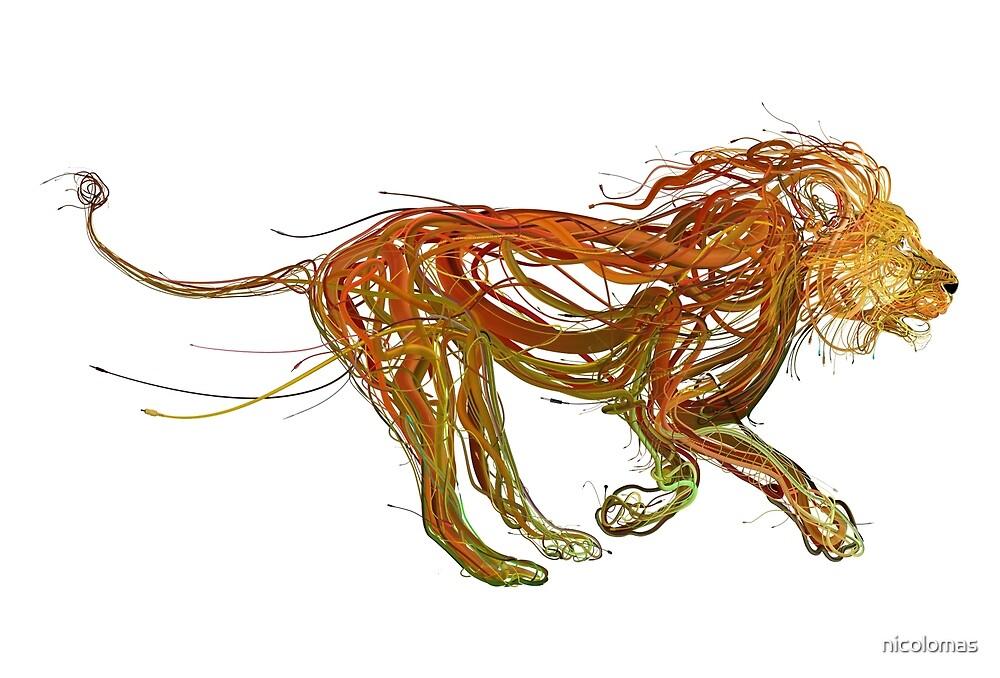 Wire Lion by nicolomas