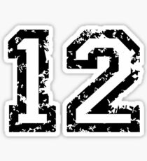 Number Twelve - No. 12 (two-color) white Sticker