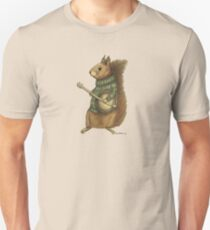 Squirrel with a banjo Unisex T-Shirt