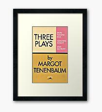 Lámina enmarcada Tres juegos de Margot Tenenbaum