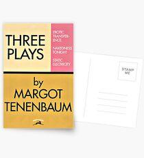 Three Plays by Margot Tenenbaum Postcards