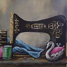 ANTIQUE SINGER by Pamela Plante