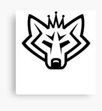 NSL Crown White Wolf Canvas Print