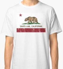 Camiseta clásica Bandera de la república de Santa Ana California angustiada