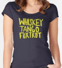 Whiskey Tango Foxtrot - Color Edition Fitted Scoop T-Shirt