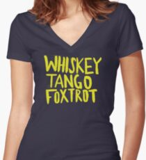 Whiskey Tango Foxtrot - Color Edition Women's Fitted V-Neck T-Shirt