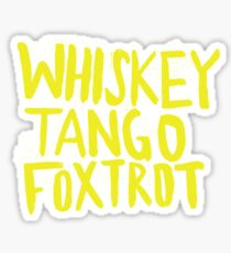 Whiskey Tango Foxtrot - Color Edition Sticker