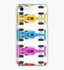 Five Race Cars  iPhone Case/Skin