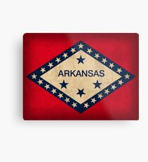 Arkansas State Flag Metal Print