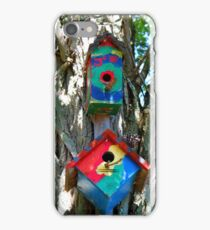 Bird Houses on the Island iPhone Case/Skin