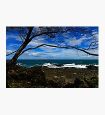 Cloudy day at the beach Photographic Print